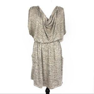 Bar lll Draped Neckline Blouson Dress  XXL
